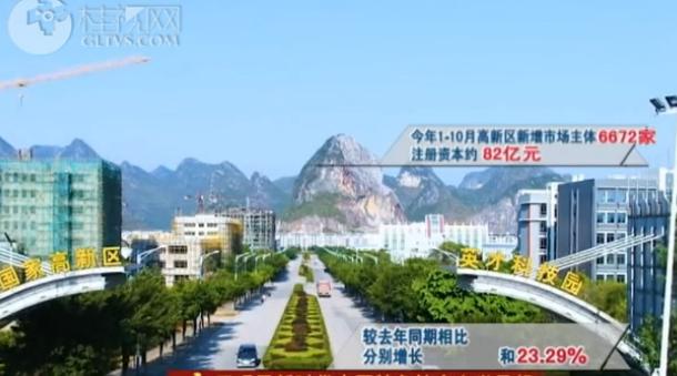 桂林国家高新区:1至10月新增市场主体较去年增