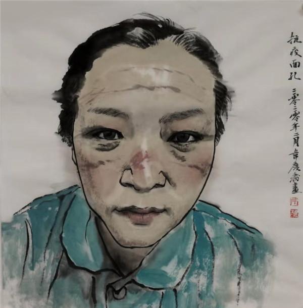 《抗疫面孔》作者:韦广寿