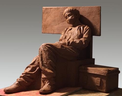 《战斗间隙 》雕塑 作者:黄熙