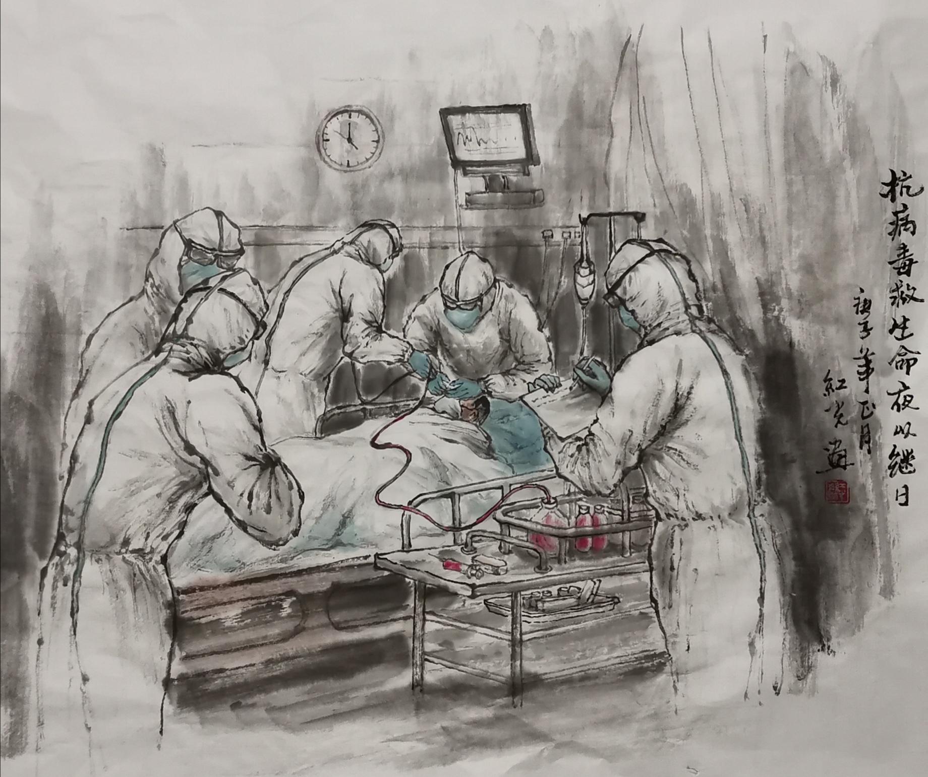 《抗病毒救生命夜以继日》作者:苏红光
