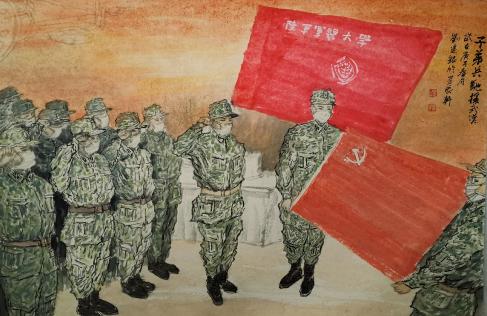 《子弟兵驰援武汉》作者:刘建银