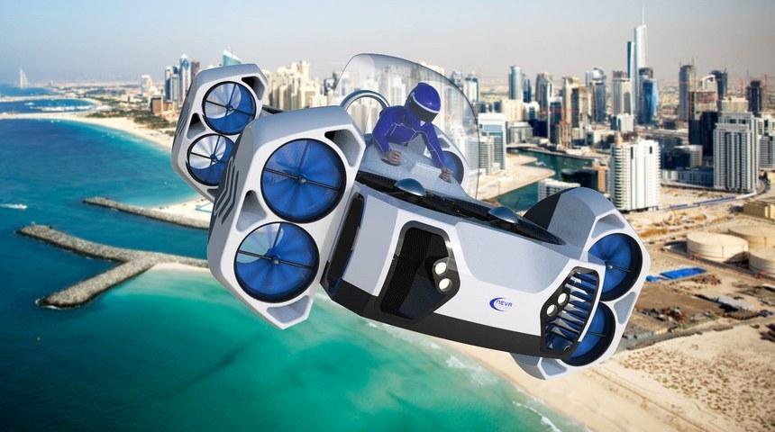 未来上班全靠飞 最新概念飞行汽车设计