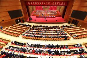 市五届人大五次会议举行第二次全体会议