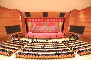 市政协六届一次会议进行大会选举