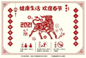 健康生活欢度春节疫情防控海报(剪纸)